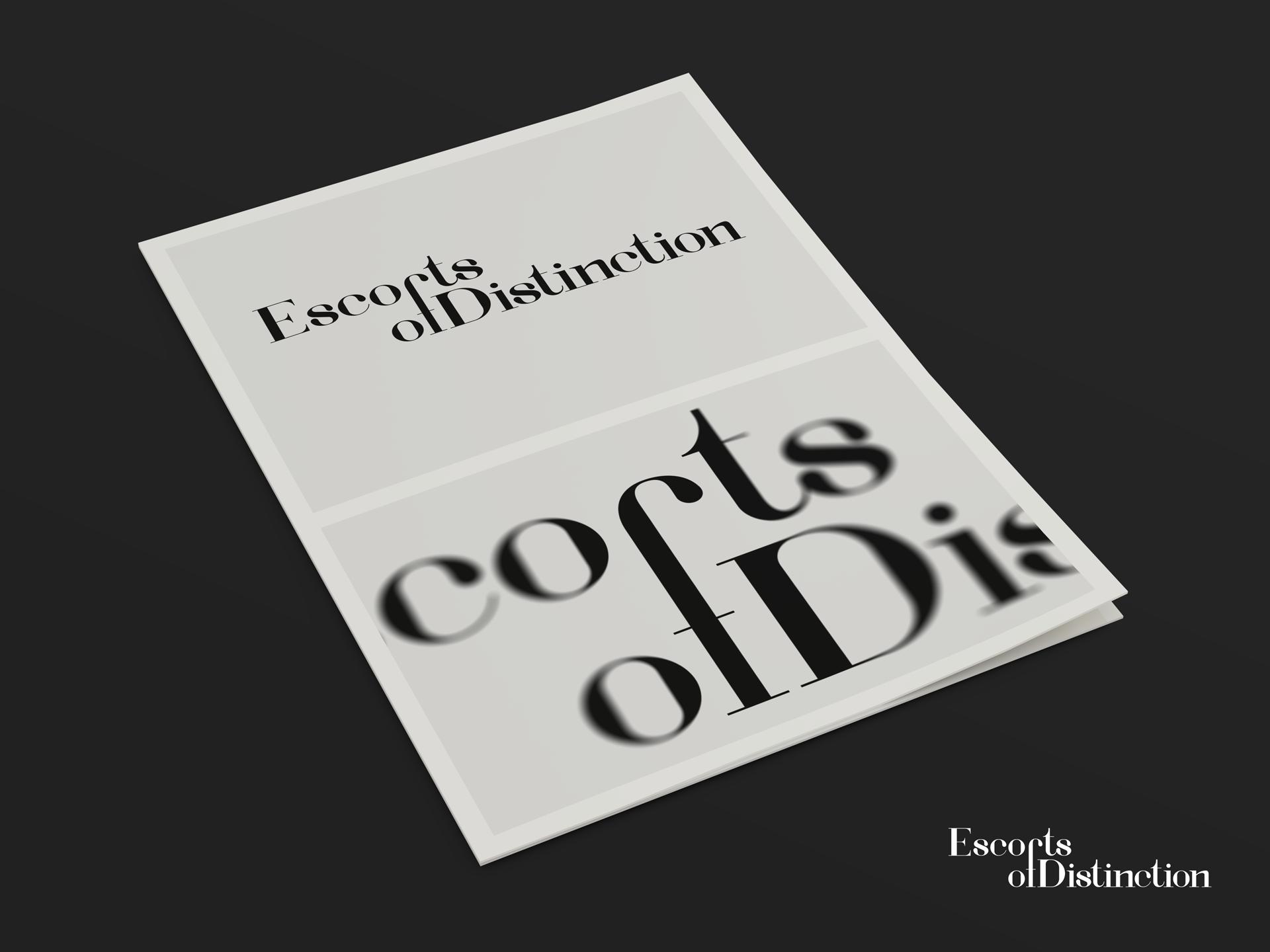 Escorts of Distinction - Graphic Designer Milton Keynes
