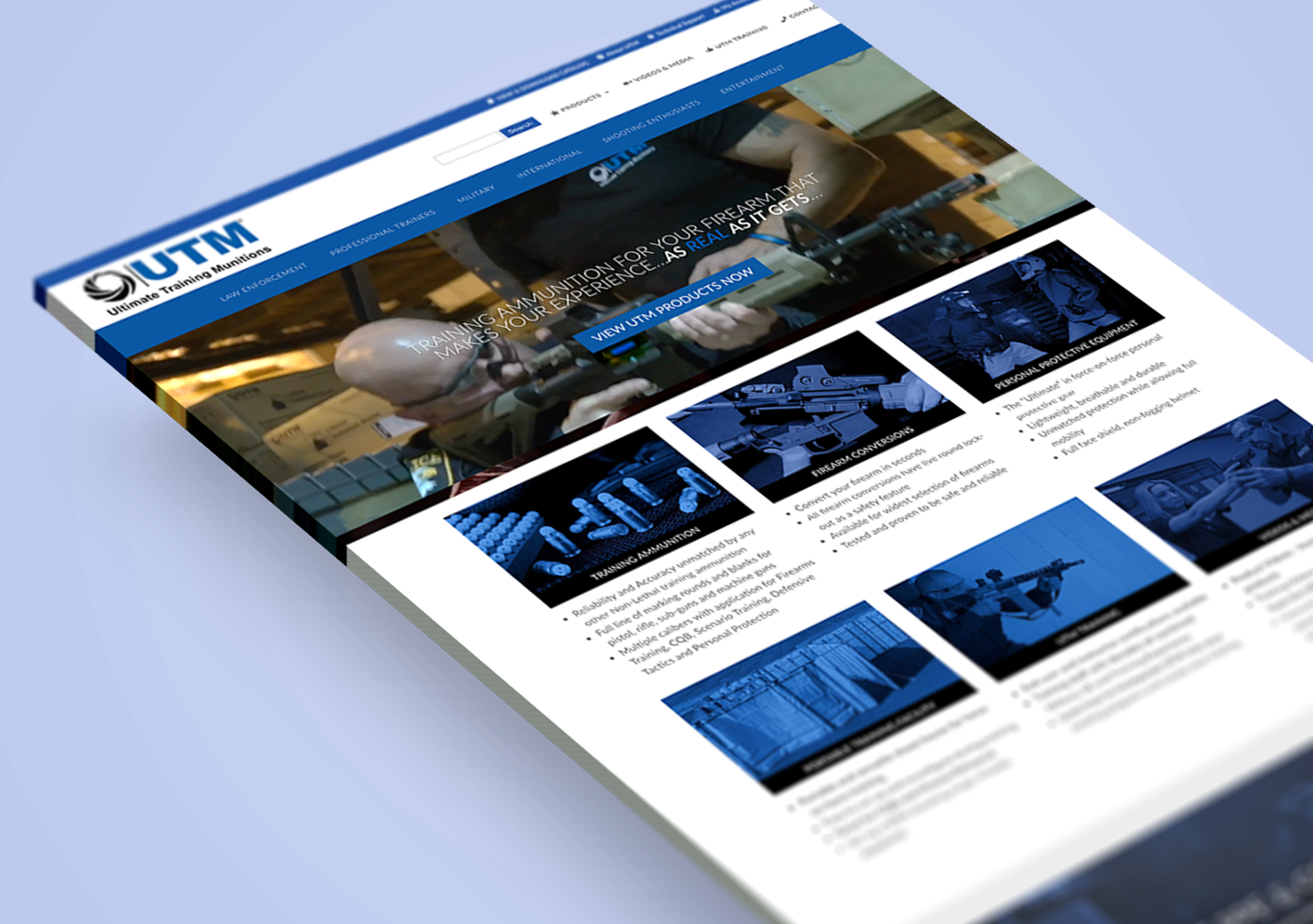 Ultimate Training Munitions » Phil Shaw » Branding » Web Design
